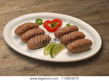 Kibbeh Raw. Also Popular Party Dish In Brazil (kibe)