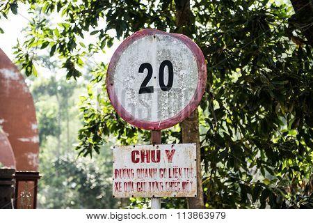 Vietnamese Dialect Signboard
