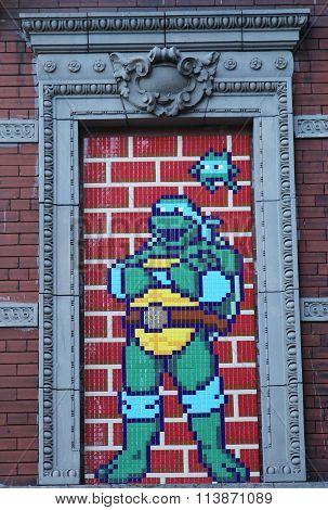 Street art at Houston Avenue in Lower Manhattan.