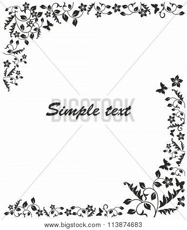 Simple Black And White Frame