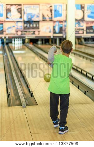 Kid Playing Bowling