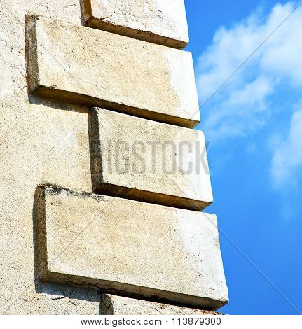 Santo Antonino Lombardy Italy     Wall Of A Curch Pattern And Sky