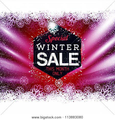Red night winter sale black tag