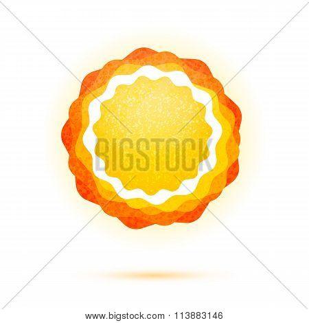 Abstract Sun symbol