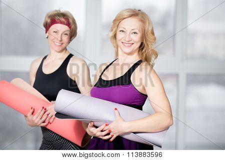 Portrait Of Two Mature Athletic Women