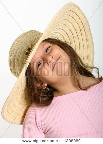 Little Girl Straw Hat