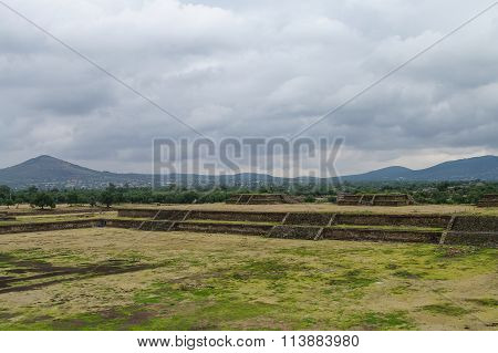Stage In  Teotihuacan Site, Mexico
