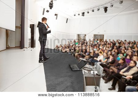 Speaker At Business Convention And Presentation.