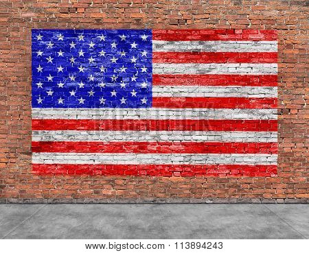 American Flag And Foreground
