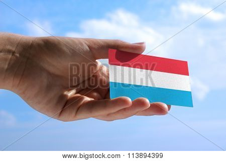 Small Flag Of Luxembourg