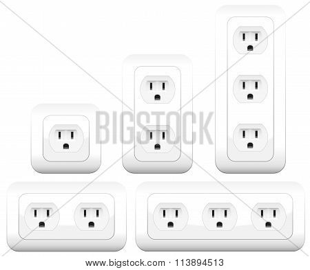 Sockets Outlets Variations Double Triple