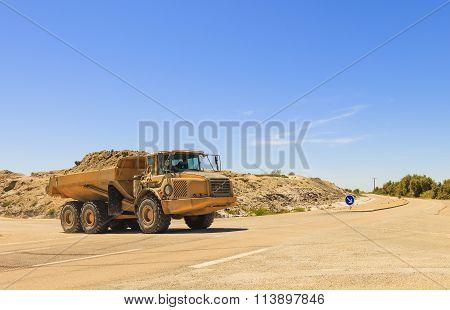 Heavy Dump Truck Or Dumper
