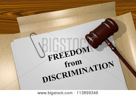 Freedom From Discrimination Concept