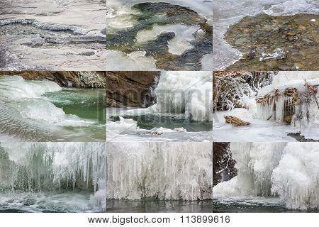 Frozen River Ice Textures