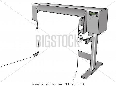 Inkjet Plotter Printing