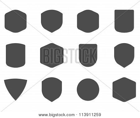 Set of vintage frames, shapes and forms for logo, labels, insignias. Use for travel, camping emblems