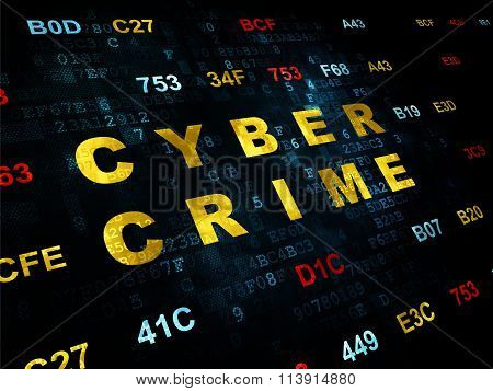 Security concept: Cyber Crime on Digital background