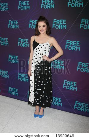 LOS ANGELES - JAN 9:  Lucy Hale at the Disney ABC TV 2016 TCA Party at the The Langham Huntington Hotel on January 9, 2016 in Pasadena, CA