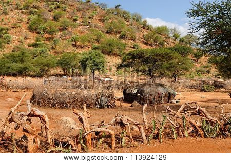 Traditional Round House Of People From The Samburu Tribe