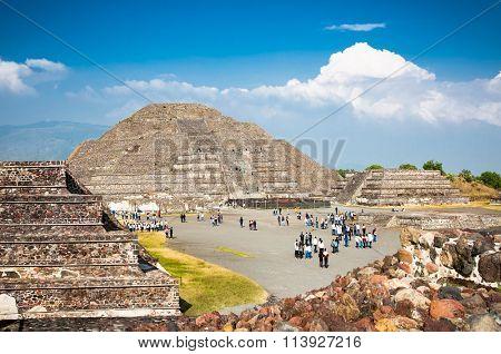 Moon piramid in Teothuacan, Mexico, Latin America.