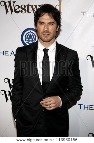 Ian Somerhalder at the Art Of Elysium's 9th Annual Heaven Gala held at the 3LABS in Culver City, USA on January 9, 2016.