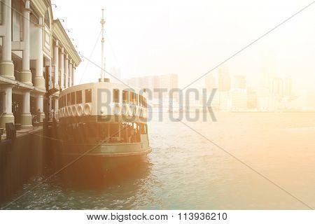 It is a ferry landing in Honk Kong.