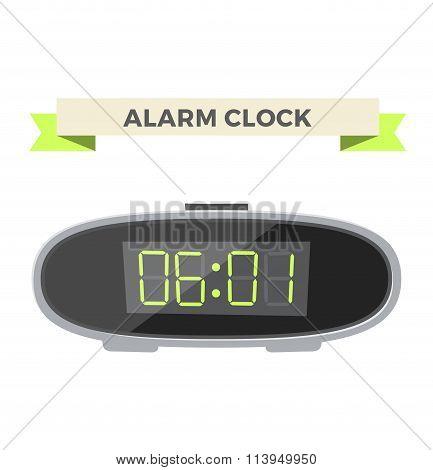 Clock watch alarm vector icon illustration