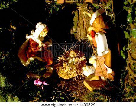 Presepio Statue Italiane Madonna Gesù Bambino E San Giuseppe