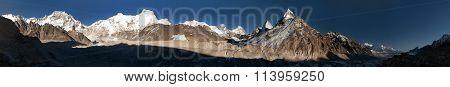 Ngozumba Glacier And Mount Everest, Nepal
