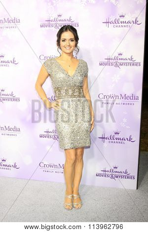 LOS ANGELES - JAN 8:  Danica McKellar at the Hallmark Winter 2016 TCA Party at the Tournament House on January 8, 2016 in Pasadena, CA