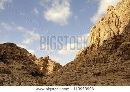 Desert Mountain Morning Landscape, Jordan