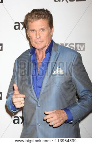 LOS ANGELES - JAN 8:  David Hasselhoff at the AXS TV Winter 2016 TCA Cocktail Party at the The Langham Huntington Hotel on January 8, 2016 in Pasadena, CA