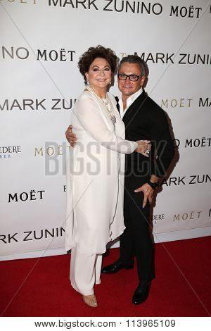 LOS ANGELES - JAN 7:  Sandra Moss, Mark Zunino at the Mark Zunino Atelier Opening at the Mark Zunino Atelier Boutique on January 7, 2016 in Beverly Hills, CA