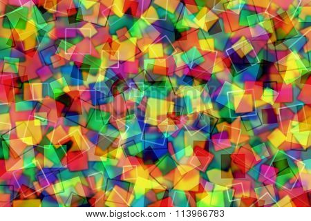 A Colorful Abstract Background with Transparent Squares