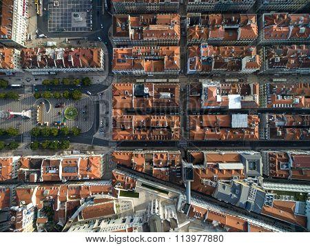 Top View of Baixa Chiado, Lisbon, Portugal