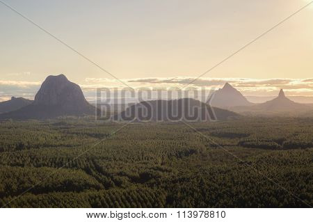 Glasshouse Mountains in Queensland, Australia