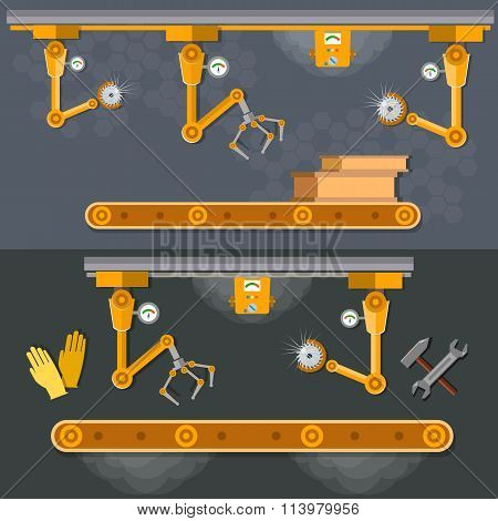 Conveyor Banners Automation Of Labor Manipulators And Robotic Arms