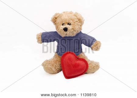 Teddy Bear And Red Heart