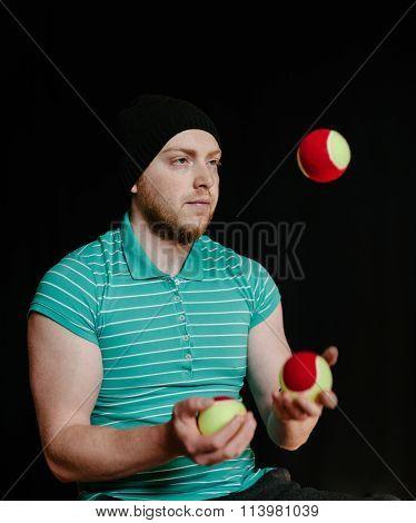 Juggling Young Man.