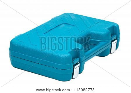 Blue Toolbox Isolated On White