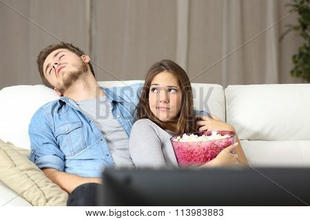 Couple Incompatibility Problems Watching Tv
