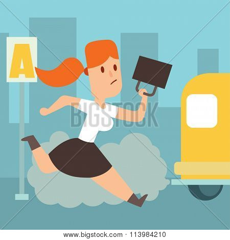 Business work time lag delay vector illusutration. Procrastination concept. People delay, time late, business situations cartoon vector. Time delay, time lag, bad worker, stree on work