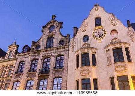 Tenement Houses In Mechelen In Belgium