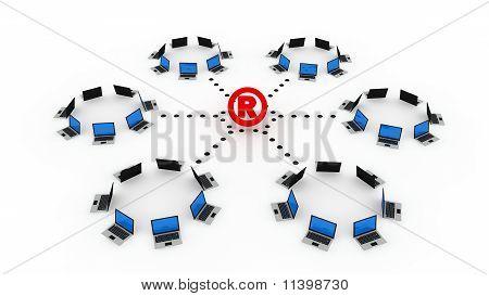 Symbole inscrit en ligne