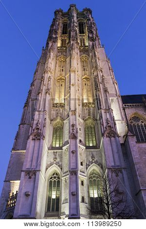 Saint Rumbold's Cathedral In Mechelen In Belgium
