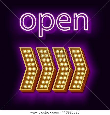 Retro Neon sign Open