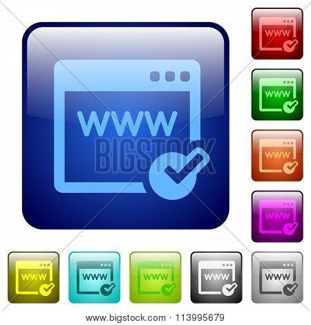 Color Domain Registration Square Buttons