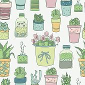 aloe, art, background, blossom, botanical, botany, cacti, cactus, cartoon, collection, cute, decoration, design, doodle, drawing, drawn, fern, flora, floral, flower, garden, graphic, green, grow, hand, herbal, home, house, houseplant, hyacinth, icon, illu poster