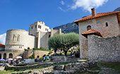 castle areal and Skanderbeg museum in Kruje, Albania poster