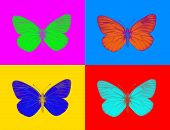 Colorful and crisp image of alien butterfly poster